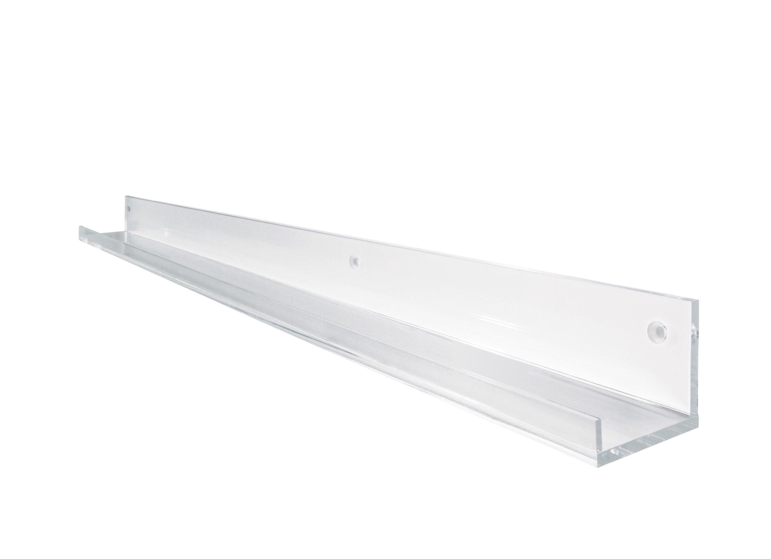 Sigel GA110 Galerieboard gallery / Regal- bzw. Ablageboard, 100 cm, Acrylleiste, transparent (glasklar) - weitere Größe auswählbar
