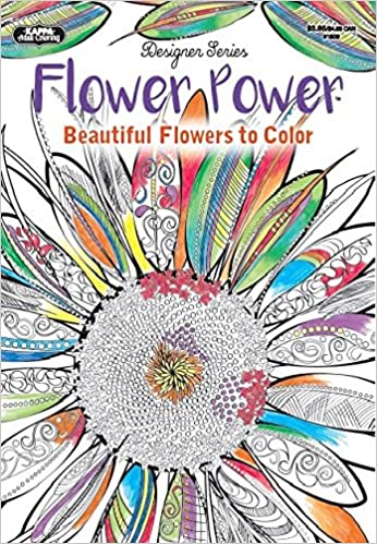 Adult Coloring - Designer Series - Flower Power: Kappa Books ...
