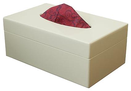 Amazon Com Abhandicrafts Wooden Tissue Box Holder White