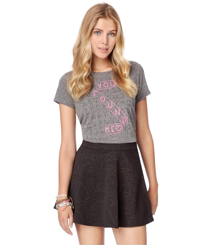 Aeropostale Womens Floral Texture Mini Skirt