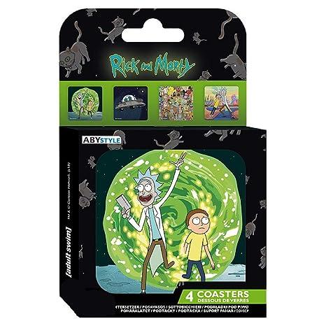 Rick and Morty Pack 4 Posavasos, imágenes: Amazon.es: Hogar