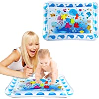 Tummy time Baby Water Play mat for Babies and Toddlers, Inflatable Play mat Toys, Belly Water mats for Baby Sensory…