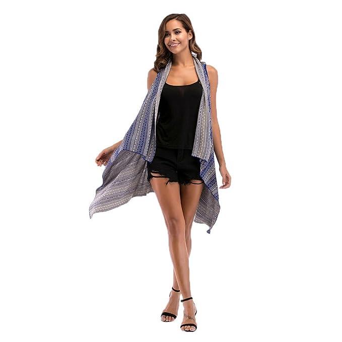 ... Chaleco Estampado Chaleco Largo Mujer Cardigan Estampado Abrigo Desigual Mujer Chaleco De Irregular Mujer Abrigos De Mujer: Amazon.es: Ropa y accesorios