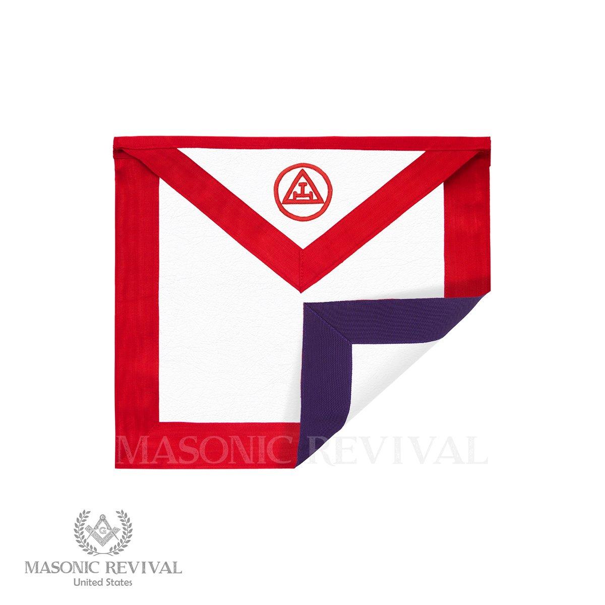Masonic Revival – リバーシブルロイヤルアーチ/Councilメンバーエプロン   B07C86RJ8V