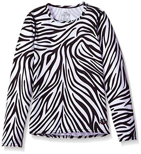 Hot Chillys Youth Originals II Print Crewneck Top, Zebra, (Youth Zebra)