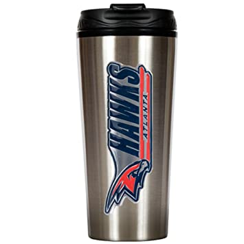 Stainless Steel and Black Vinyl NBA Metallic Travel Tumbler 16-Ounce