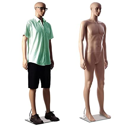 DD'S Male(Mens) Straight Full Body Mannequin Display Dummy (Skin Colour)(with Hair Wick Free) Display at amazon
