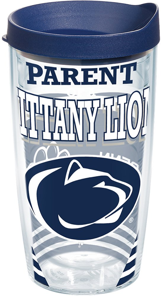 Tervis 1223673 Penn State Nittany Lions Parent Tumbler with Wrap and Navy Lid 16oz Clear