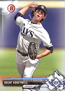 2017 Bowman Prospects #BP84 Brent Honeywell Tampa Bay Rays Baseball Card
