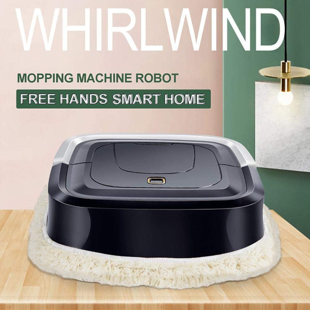 GDS Robot Balayer Lazy Intelligent, Mopping Machine, entièrement Automatique Mini Sweeper Ménage, Convient pour Animaux Cheveux, Tapis, Plancher Dur, Station de Recharge Red