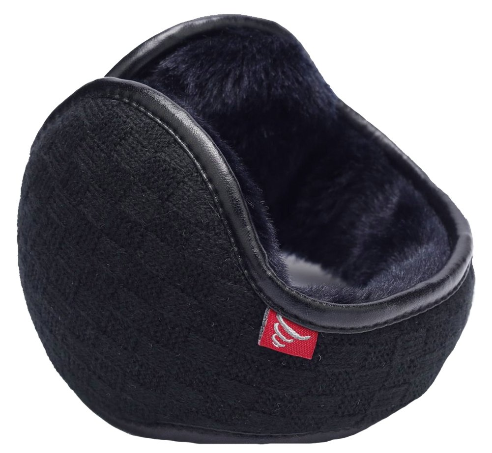 Ilishop Unisex Woolen Yarn Plaid Foldable Adjustable Wrap Black Free