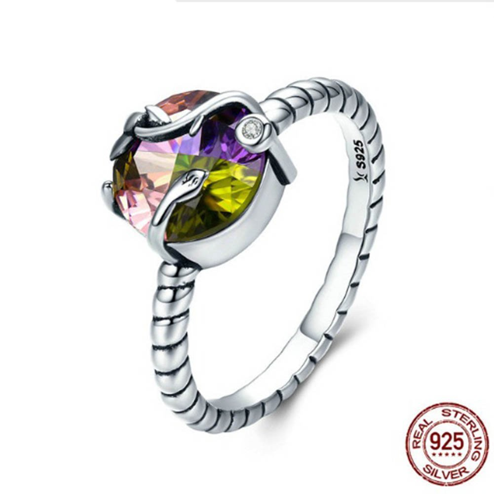 TFR Ring 925 Sterling Silver Natural Magic Colorful Rings Jewelry for Women Wedding Engagement Rings