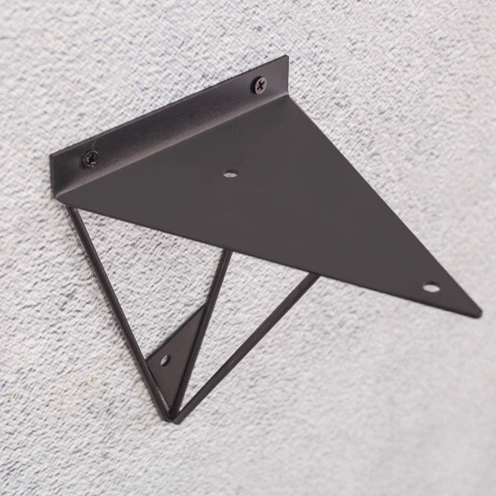 NWHJ Equerre pour Etagere en Fer d/écoratif Triangle de tr/épied Stable Pack de 2 Support d/étag/ère Industrielle Moderne en m/étal
