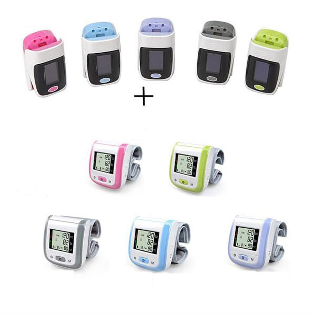 Oxímetro de dedo y monitor de frecuencia cardíaca and Tensiómetro de muñeca equipo, E: Amazon.es: Salud y cuidado personal