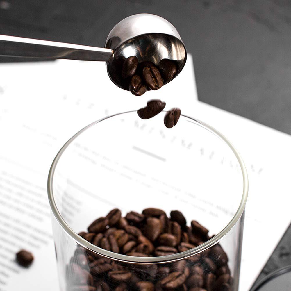 les prot/éines Drrerytu Lot de 2 cuill/ères /à caf/é en acier inoxydable pour mesurer le caf/é les c/ér/éales les /épices et autres produits secs 30 ml 2pcs 30 ml.