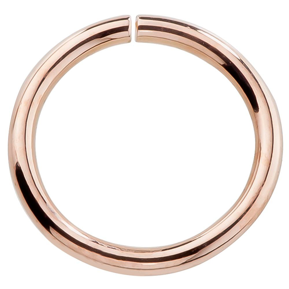 14k Rose Gold Hoop Earring Cartilage or Nose Piercings Choose From 4 Sizes - Petite Earrings 22 or 20 Gauge For Sensitive Ears Nickel Free (20G 5/16'') by FreshTrends