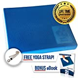Product review for XL & L Foam Balance Pad - FREE Stretching Strap & BONUS eBook | Extra Large Balance Pads for Physical Therapy Rehab & Ankle Recovery, Lower Back/Knee Pain | X Large Wobble Board Cushion for Strength