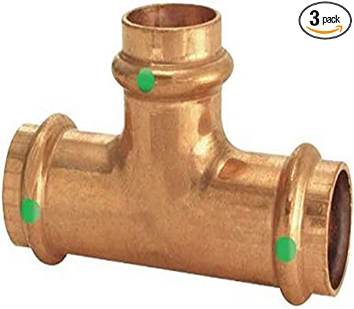 49854 Viega PureFlow Press Tee 5//Each P1: 11//2; Polymer