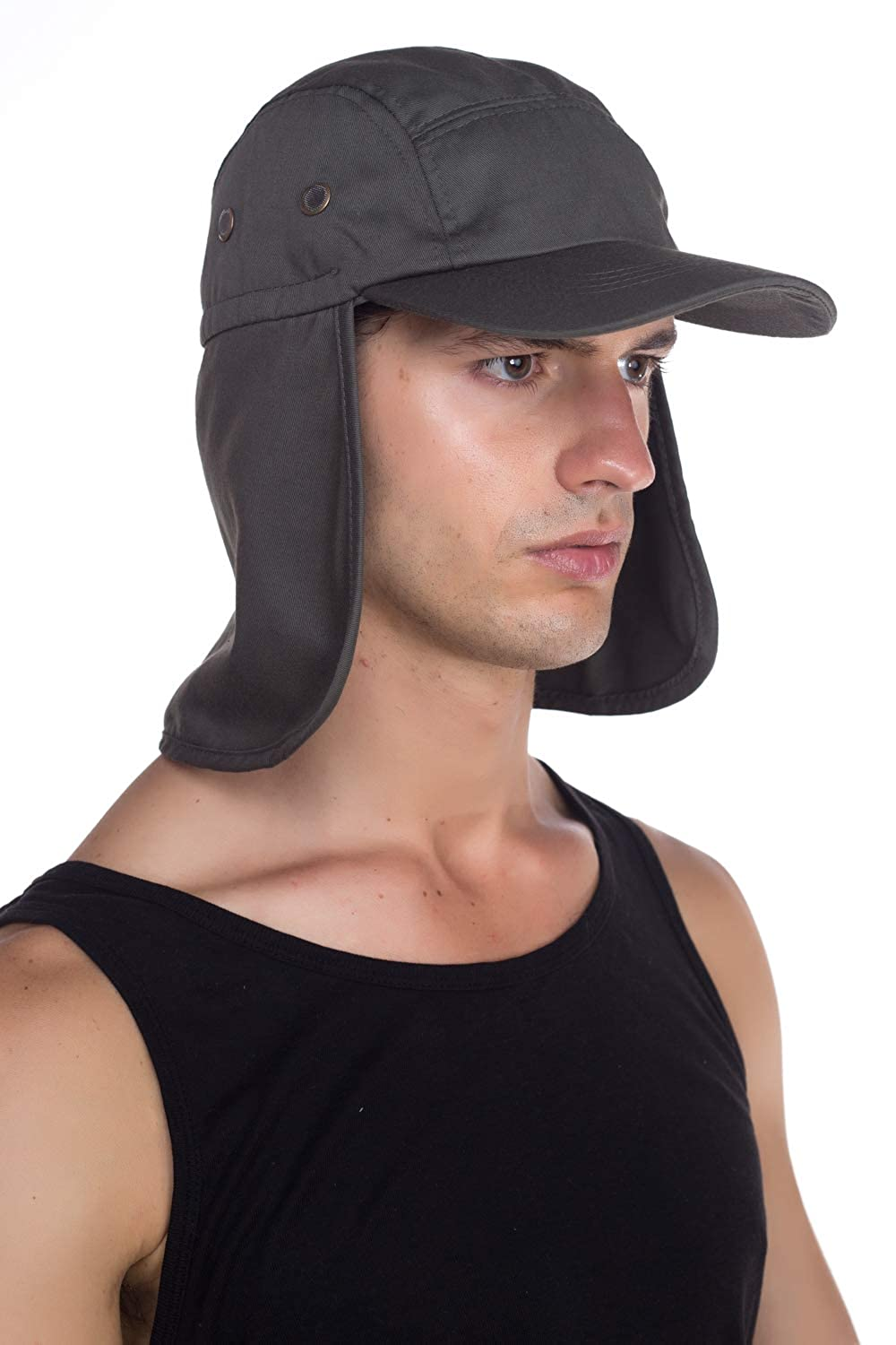 Top Level Fishing Sun Cap UV Protection Ear and Neck Flap Hat