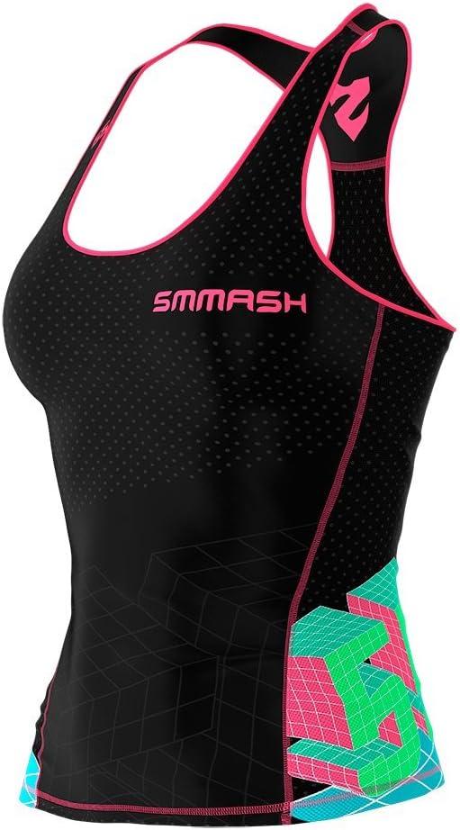 Sporttop Atmungsaktiv SMMASH X-WEAR GO Candy Damen Compression Fit Tank Top Funktionsshirt f/ür Crossfit Sport Shirt Oberteile mit Kompressions Gym Yoga Fitness Laufen