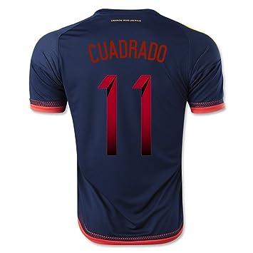 4ceeca683 2016 2017 Colombia 11 Juan Cuadrado Away Football Soccer Jersey In Blue:  Amazon.co.uk: Sports & Outdoors