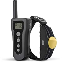 ALPRANG Dog Training Collar, 1200ft Remote Dog Shock Collar, 100% Waterproof and Rechargeable with Beep/Vibra/Electric Shock