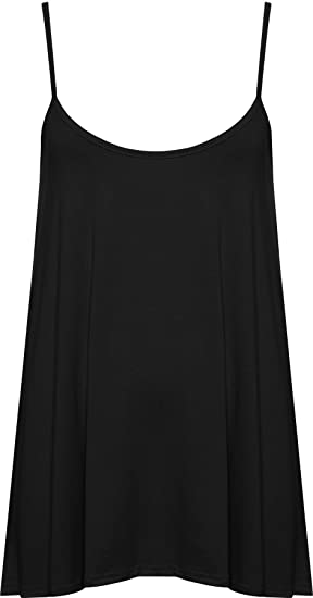 b01fe40e7a8 WearAll Plus Size Women s Strappy Swing Vest Top at Amazon Women s ...