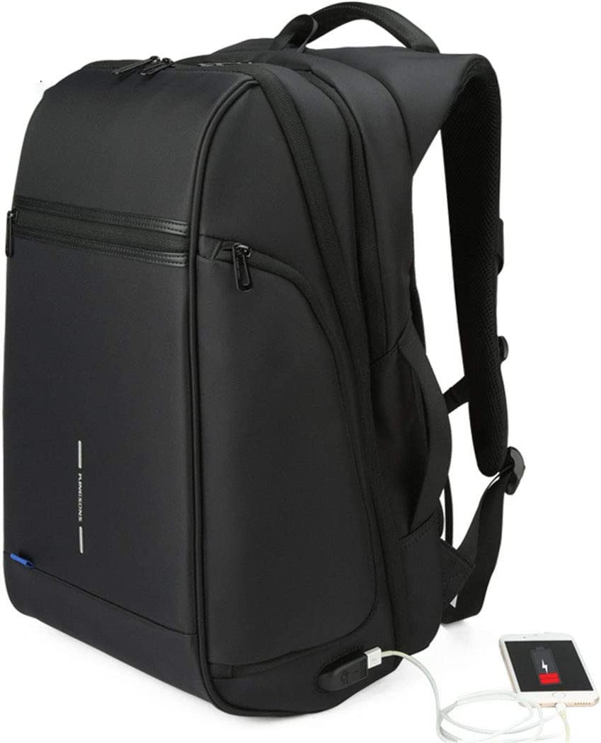 1517 Laptop Backpack External USB Charge Computer Backpacks Anti-Theft Waterproof Bags Black model 15 Inches
