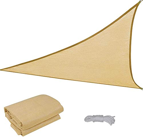 16.5' Triangle Sun Shade Sail Patio Deck Beach Garden Yard Outdoor Canopy Cover Uv Blocking Desert Sand