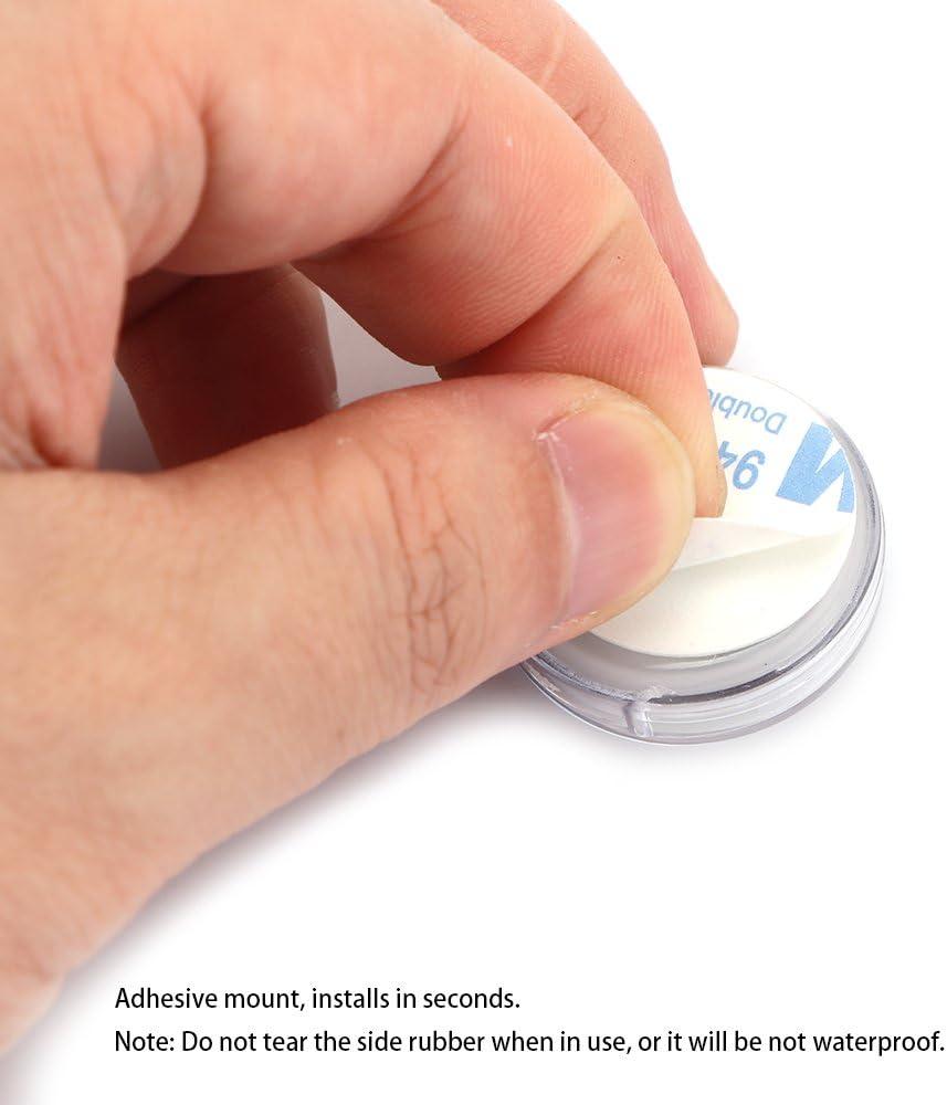 1.1 Orologio moto orologio da polso digitale universale Mini Stick-On impermeabile per moto