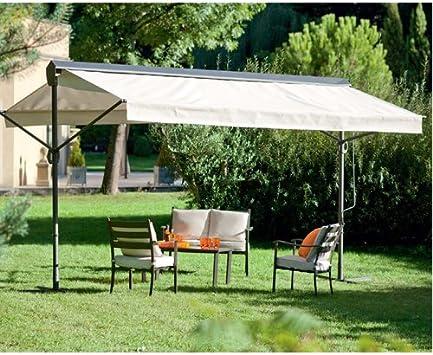 Toldo Riviera con doble pendiente - 3 x 4 m - color crudo: Amazon ...