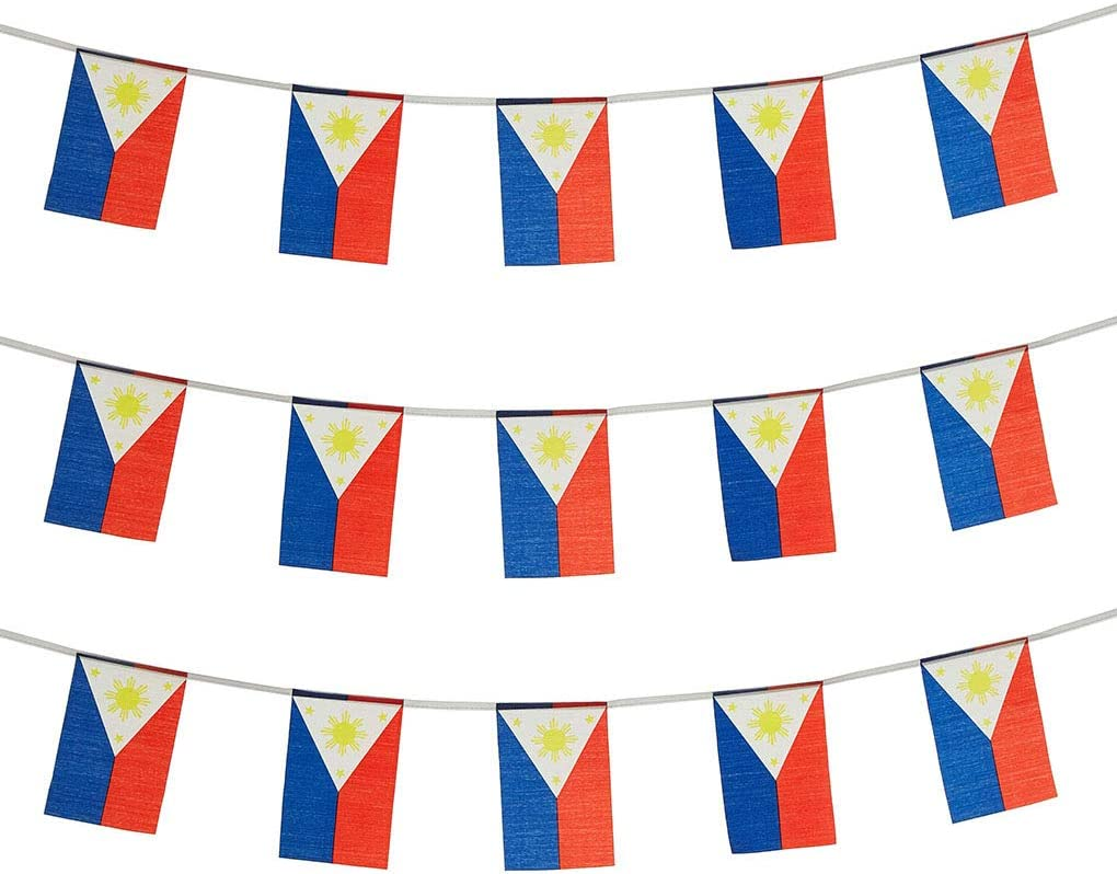 Philippines Flags Filipino Small String Mini Flag Pennant Banner Decorations