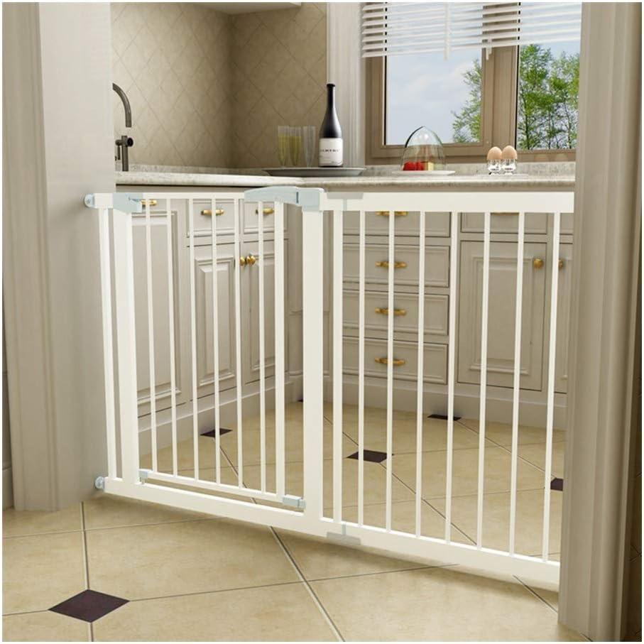 AGLZWY Puerta De Seguridad Barrera Seguridads para Bebes Escaleras Expandible Separador De Estancias Montaje En La Pared Montaje A Presión, 80 Cm (Color : White, Size : 138-145cm): Amazon.es: Hogar