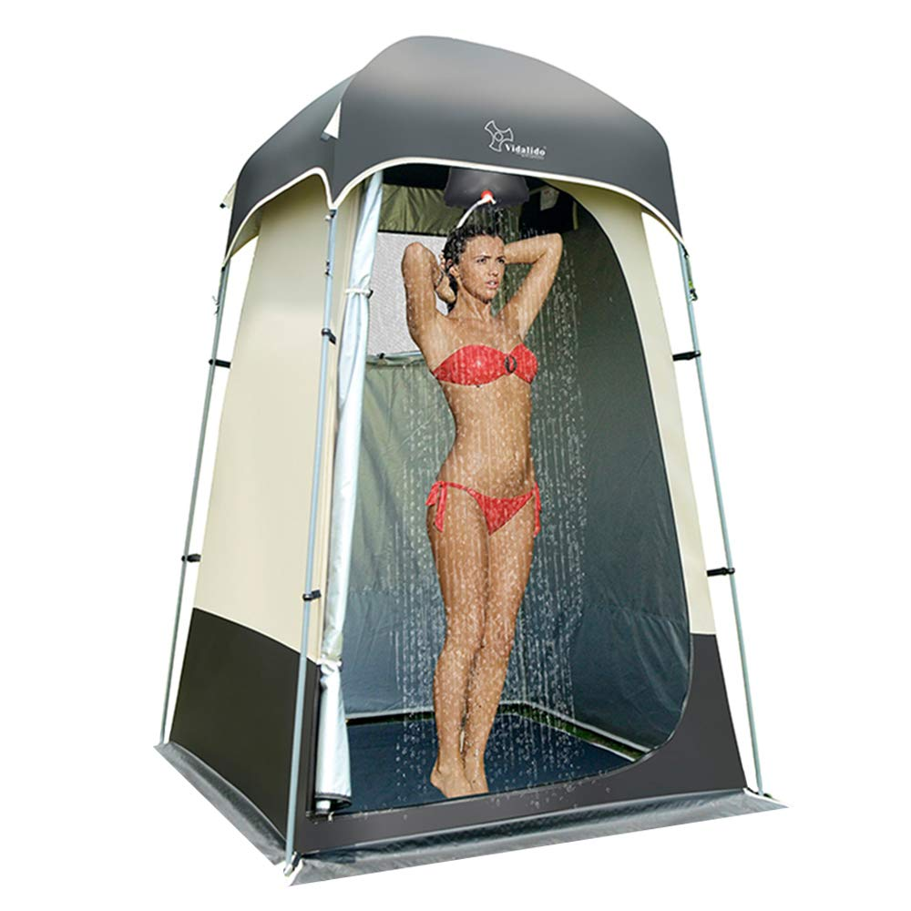 Vidalido Outdoor Shower Tent Changing Room Privacy Portable Camping Shelters (Gray)