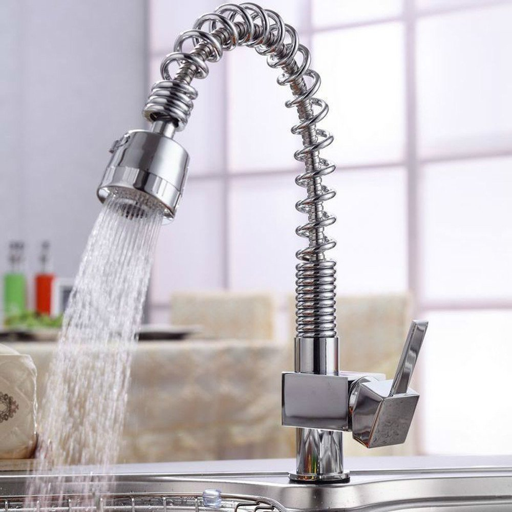 Hlluya Wasserhahn für Waschbecken Küche Pull-down Kaltes Wasser Armaturen Armaturen Armaturen für Pull-down Küche Wasserhahn Pull-down Küche Wasserhahn Whirlpool Federn fe038f
