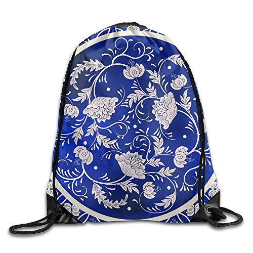 Cute Homemade Little Girl Costumes (Minium Blue Print Unsix Drawstring Bag Beam Mouth Shoulders Backpack 17
