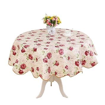 Mantel de mesa redonda PVC impermeable plegable lavable, cuidado ...