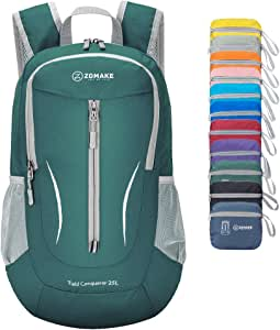 ZOMAKE Ultra Lightweight Packable Backpack, 25L Small Water Resistant Hiking Daypack Foldable Travel Backpack for Men Women Outdoor