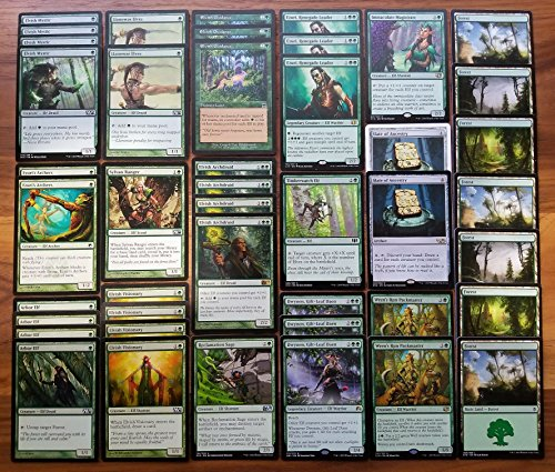 Magic Custom (Magic: The Gathering Green Elf Ramp & Overwhelm Custom Magic Deck)