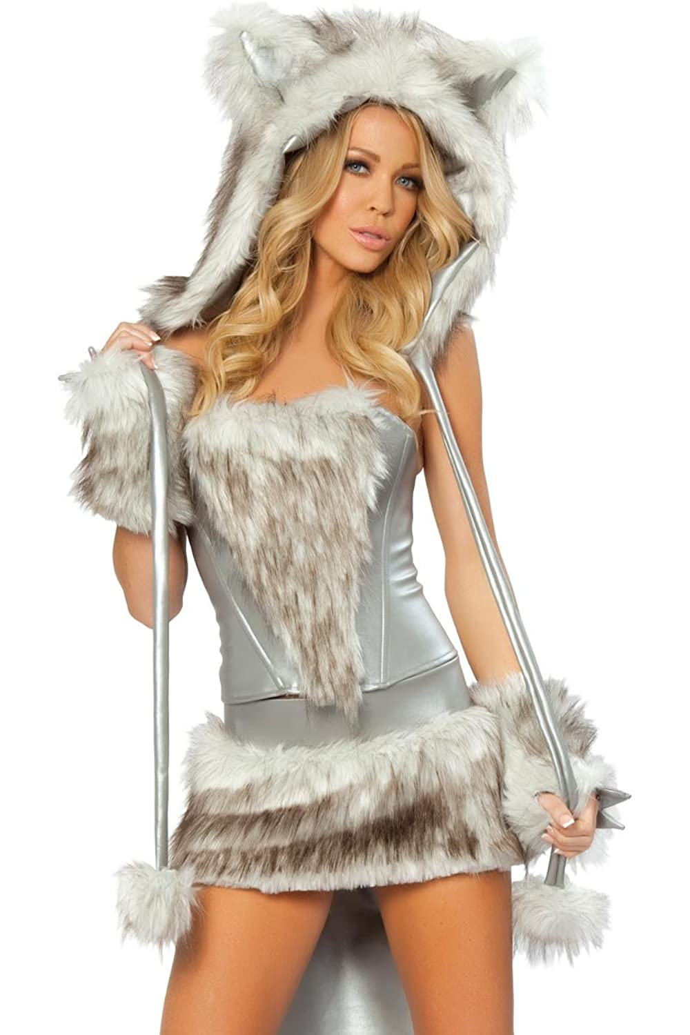 Women's Sexy Lil Wolf Costume 7 Piece Complete Set
