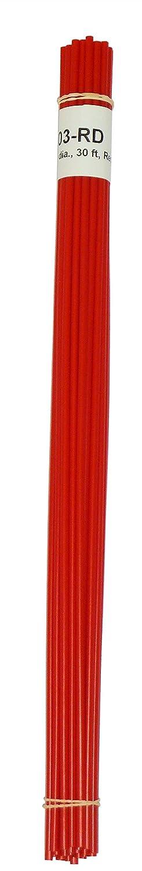 Polyethylene (LDPE) Plastic Welding Rod, 1/8' Diameter, 30 Ft., Red 1/8 Diameter Polyvance R04-01-03-RD