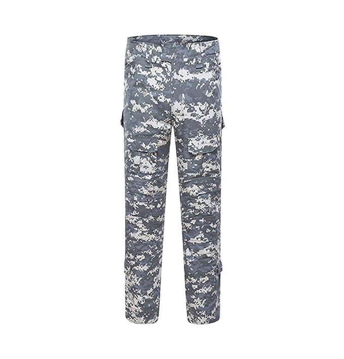 Pantalones De Camuflaje Táctico De Al Hombres Aire Los Libre Multi-Bolsillos Respirables Mode De