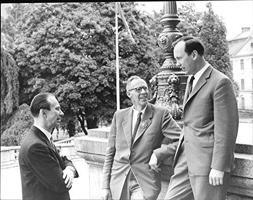 Vintage photo of Gunno S246;dersten, V. Hugo Sanner and G246;sta Ohlin during the Missionary Music Festival ()