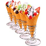 Stainless steel Pizza Cone Holder Stand Ice Cream Cone Holder (5 pcs)