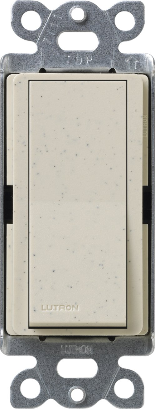 Lutron SC-3PSNL-LS Diva Satin Colors 15-Amp 3-Way Switch with Locator Light, Limestone