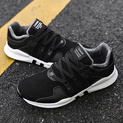 Men's Shoes Feifei Winter Outdoor Movement Keep Warm Running Shoes 3 Colors (Color : 01, Size : EU40/UK7/CN41)