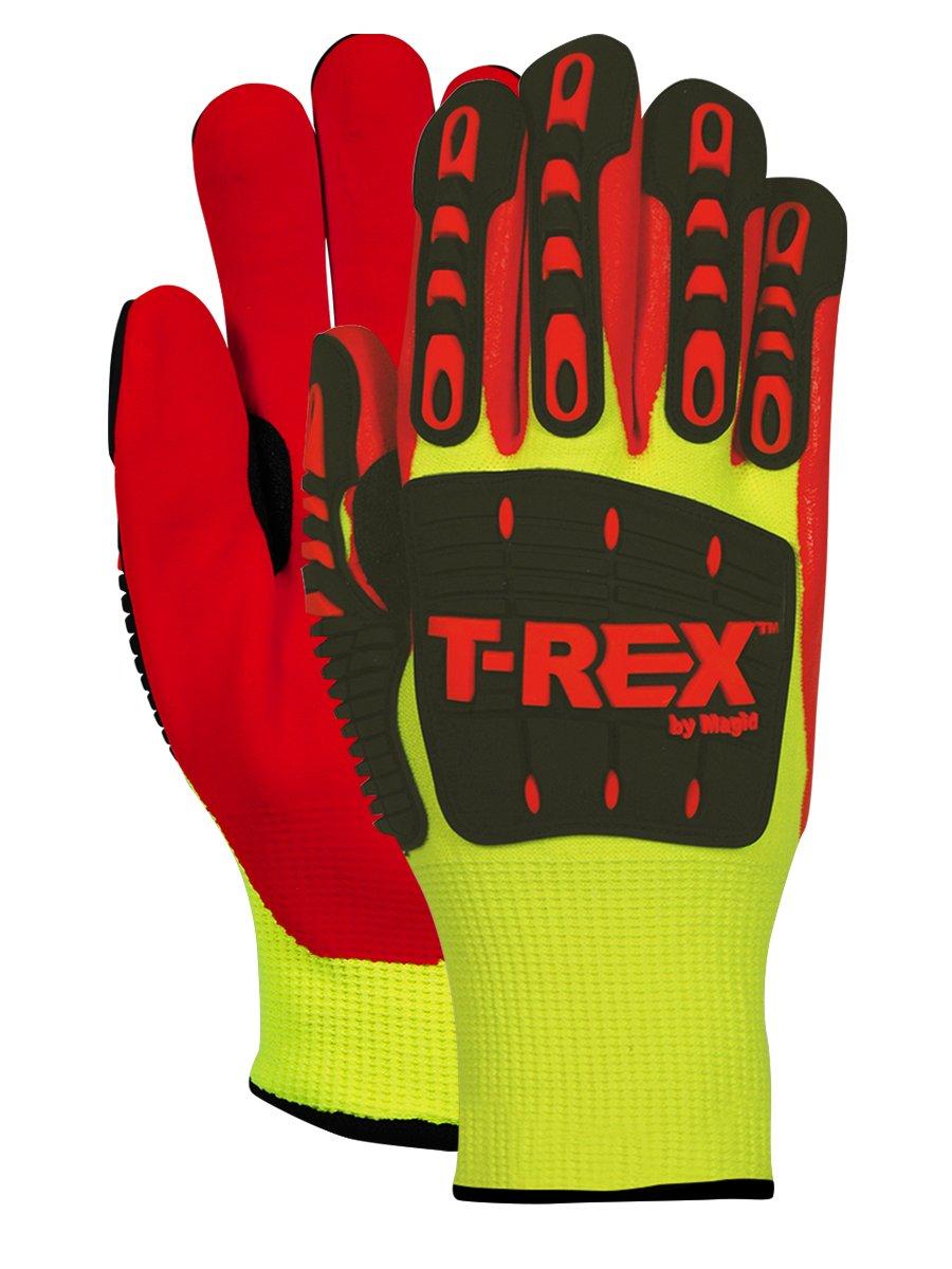Magid Safety TRX545WM T-REX Cut Level 4 Thermal Impact Gloves, Medium, Yellow/Orange (One Pair)