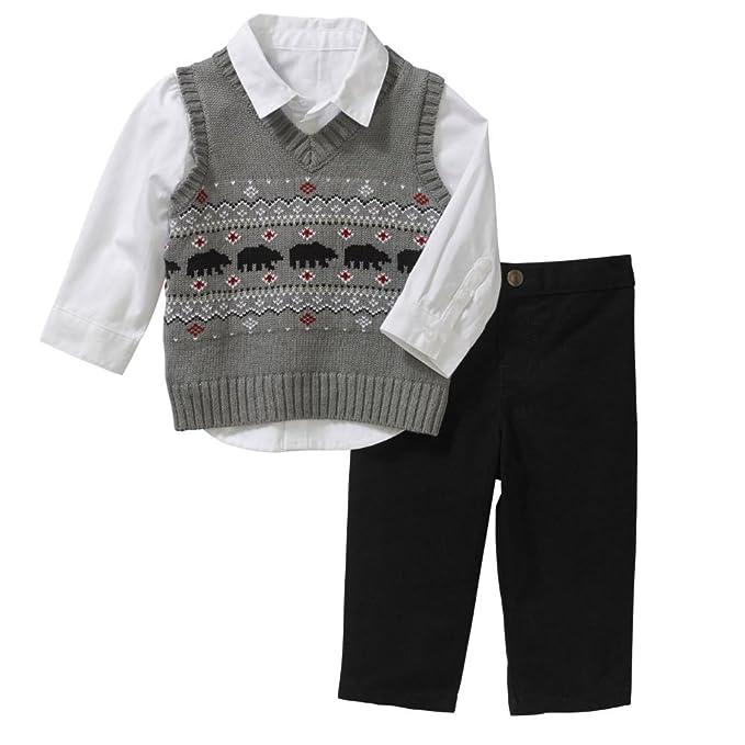 Amazon.com: George Infant Boys día festivo vestido (3 piezas ...