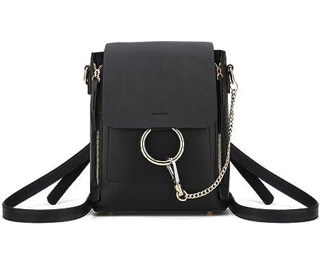 Damentasche Umhängetasche Handtasche Umhängetasche Bestickt Neu PU stilvoll,Black-OneSize ADEFG