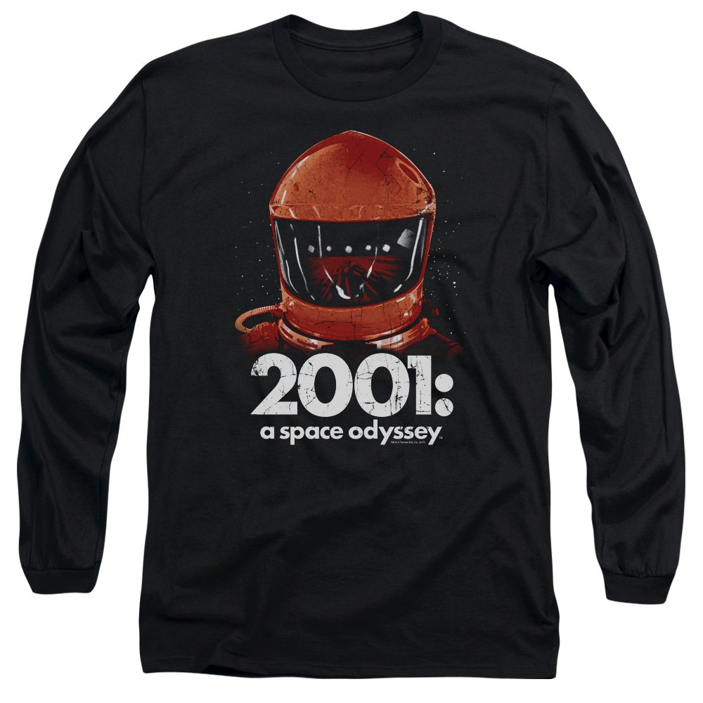 Trevco 2001 A Space Odyssey Space Travel Adult Long Sleeve T-Shirt Black Medium